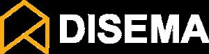 disema logotipas baltas